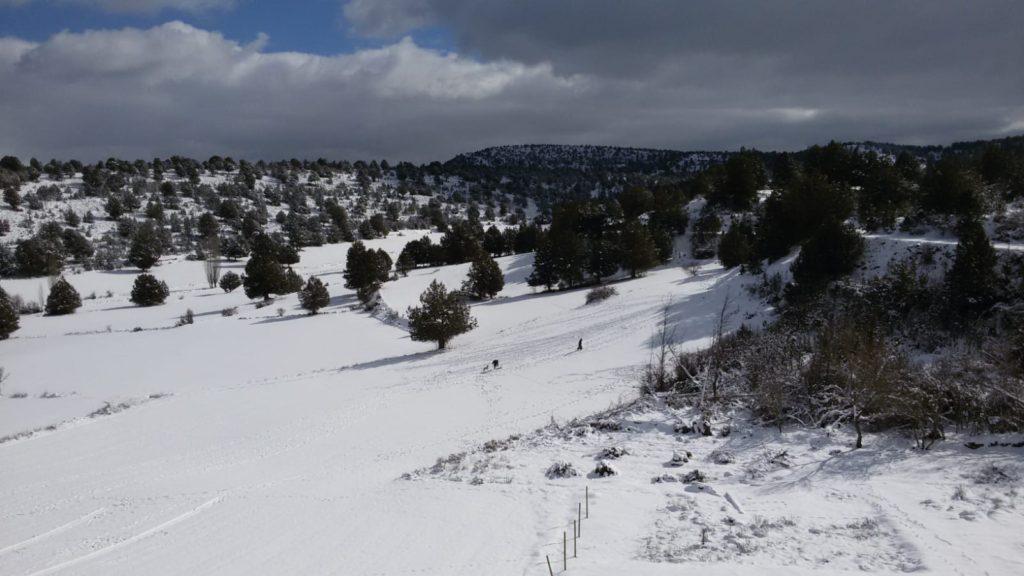 """Paisajes nevados en Escalera enviados por el Hotel """"El Descansillo"""" de la localidad."""
