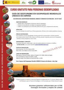 Curso de Geoturismo en Geoparques Mundiales UNESCO de España, gratis para desempleados