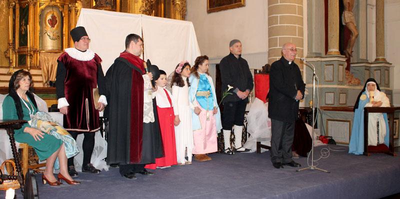 Un momento del discurso del Obispo, Atilano Rodríguez.