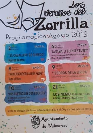 Milmarcos organiza «Los veranos del Zorrilla» en su mítico teatro