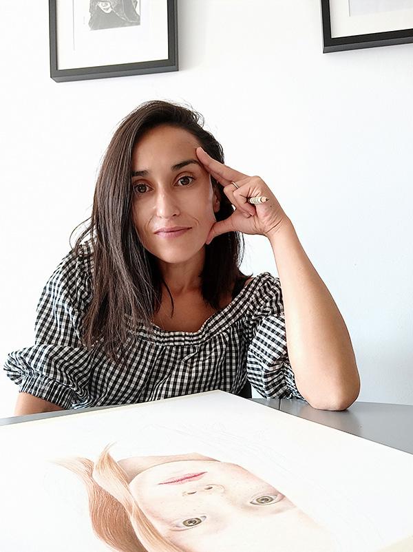 Sara Mellado, joven promesa de la pintura molinesa