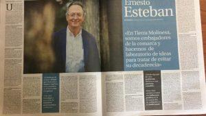 Entrevista al presidente de Tierra Molinesa en La Tribuna de Guadalajara